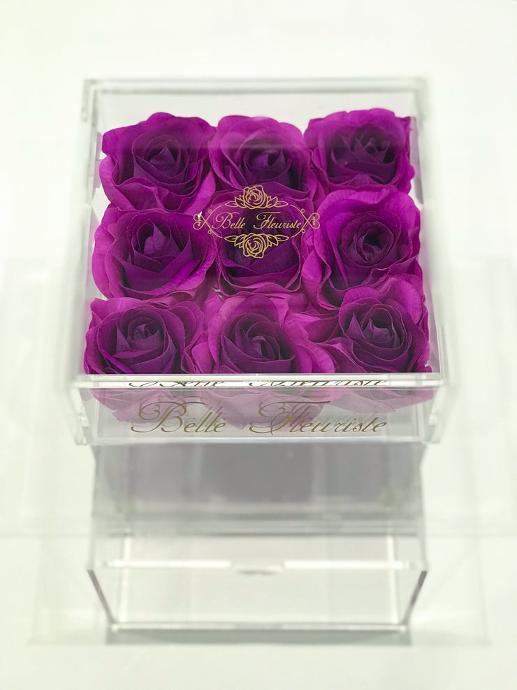 Mini Purple Cosmetic Box