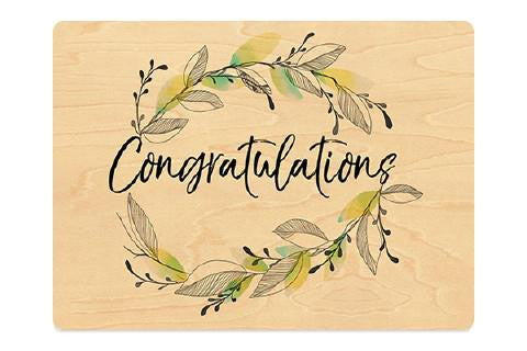 Congratulations with leaves