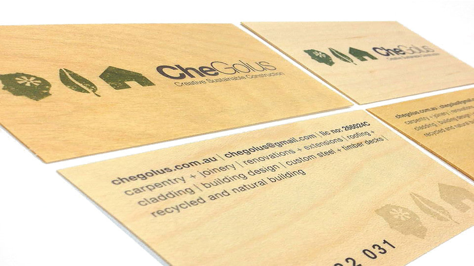 Unique Wood Greeting cards