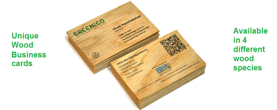 Unique Wood Business cards