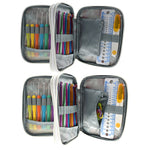 Load image into Gallery viewer, Set of Soft Grip and Stainless Steel Crochet Hooks & Sewing Tools Set in a Beautiful Case