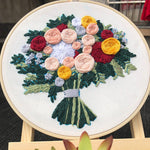 Load image into Gallery viewer, Embroidery Assorted Patterns Kits with Bamboo Hoop