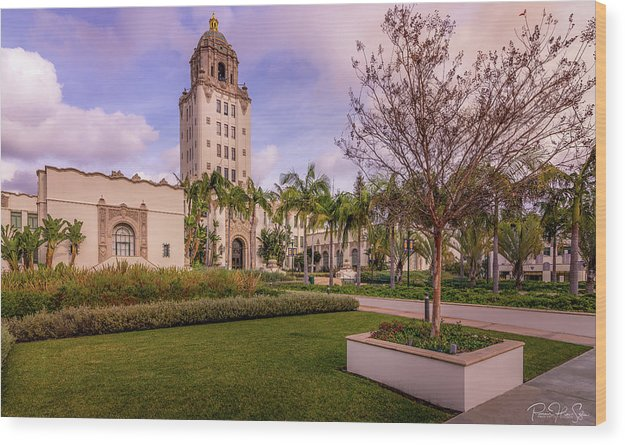 Beverly Hills City Hall 1 - Wood Print