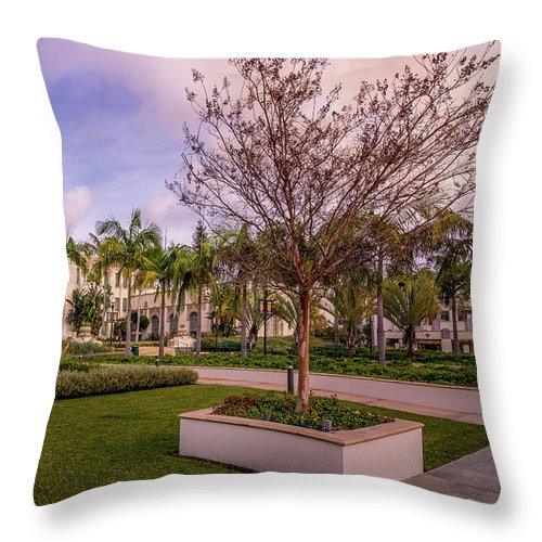 Beverly Hills City Hall 1 - Throw Pillow