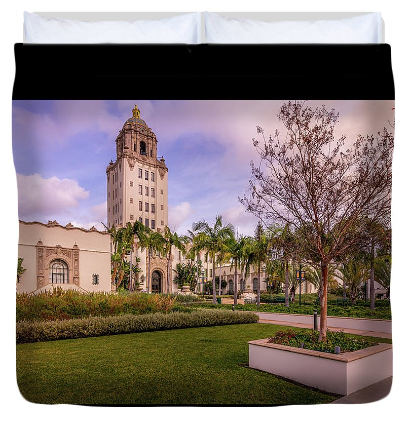 Beverly Hills City Hall 1 - Duvet Cover