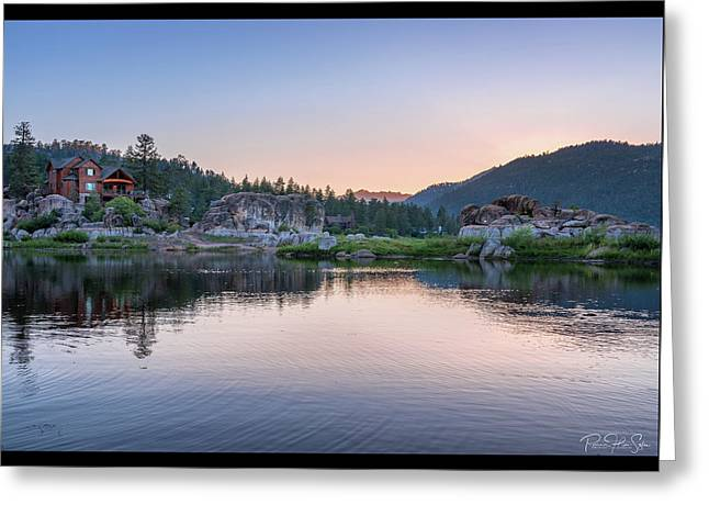 Big Bear Lake Sunset - Greeting Card