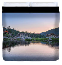 Load image into Gallery viewer, Big Bear Lake Sunset - Duvet Cover