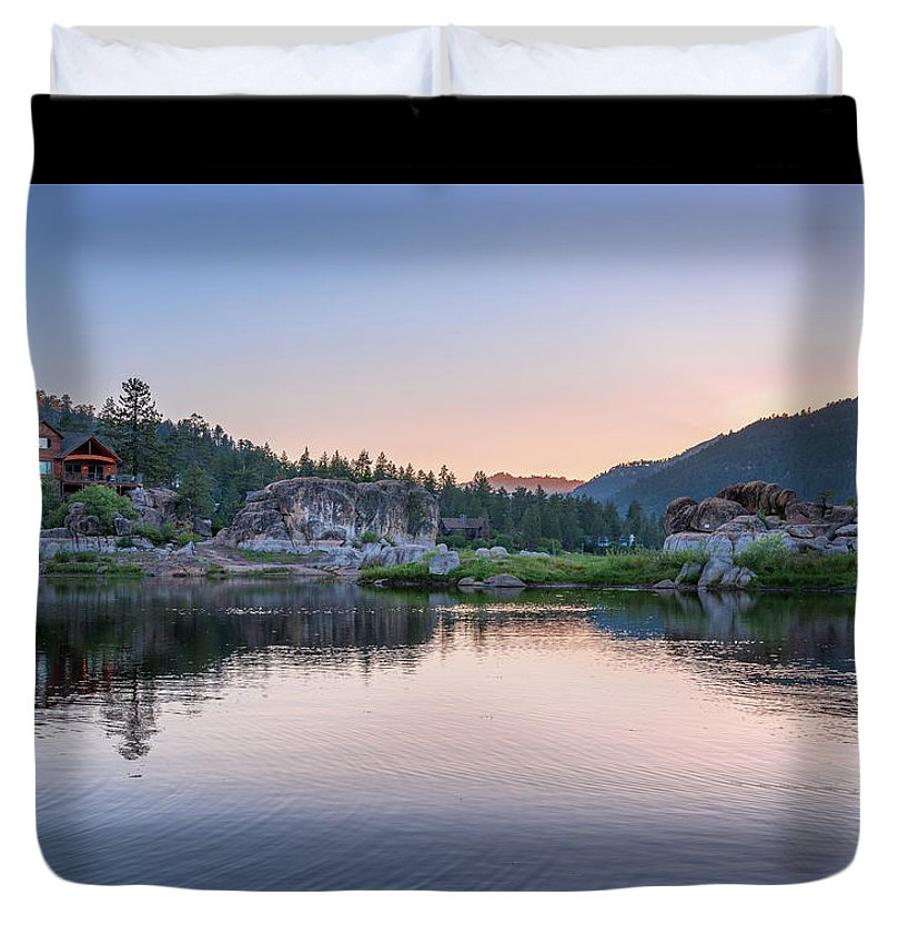 Big Bear Lake Sunset - Duvet Cover