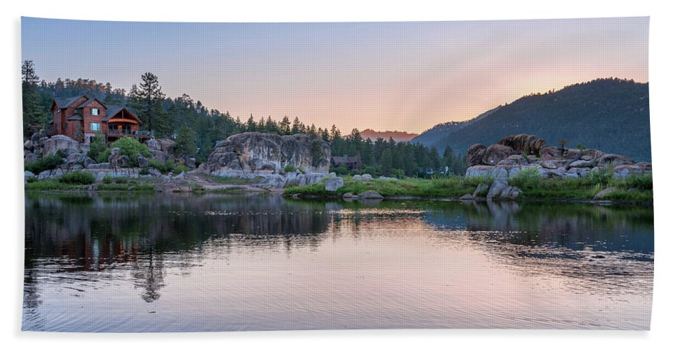 Big Bear Lake Sunset - Beach Towel