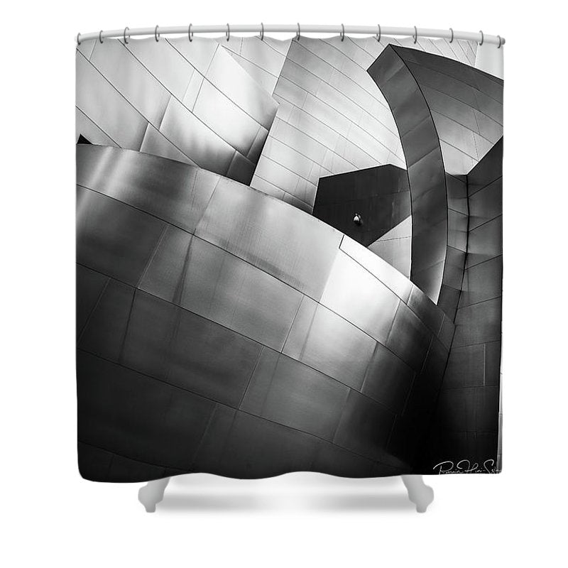 Black and White Curves - Shower Curtain
