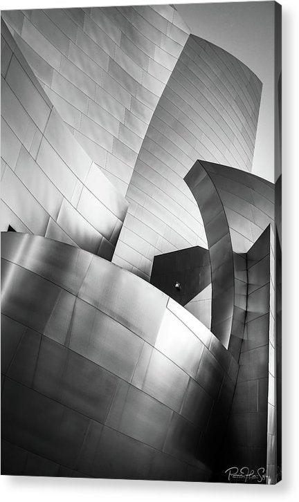 Black and White Curves - Acrylic Print
