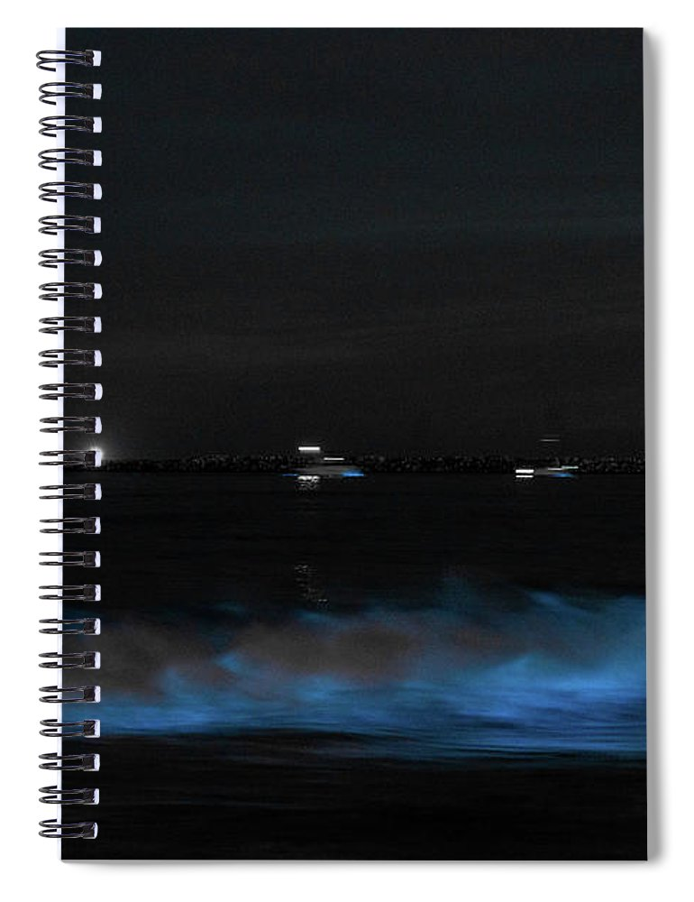 Blue Wave - Spiral Notebook