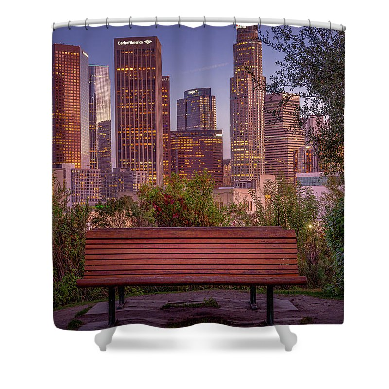 Empty Bench - Shower Curtain