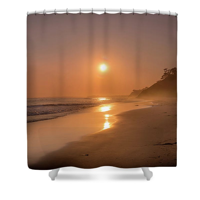 Golden Santa Barbara  - Shower Curtain