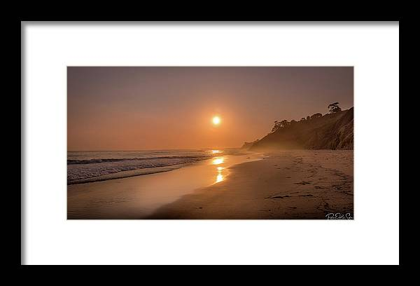Golden Santa Barbara  - Framed Print