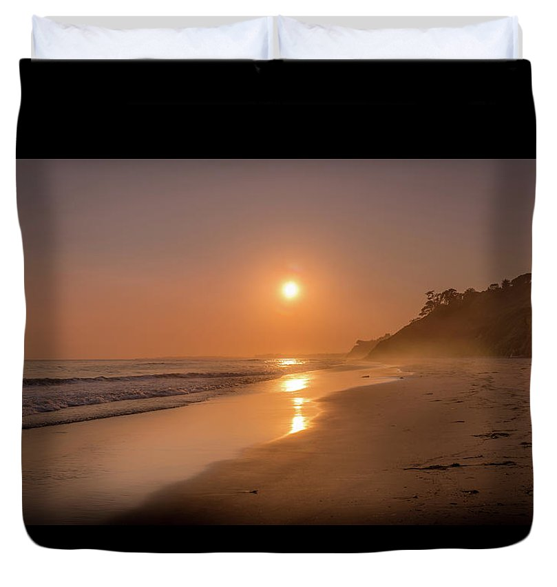 Golden Santa Barbara  - Duvet Cover