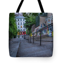 Load image into Gallery viewer, Graffiti Stairways - Tote Bag