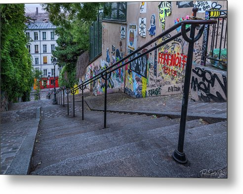 Graffiti Stairways - Metal Print