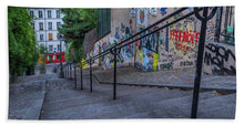Load image into Gallery viewer, Graffiti Stairways - Bath Towel
