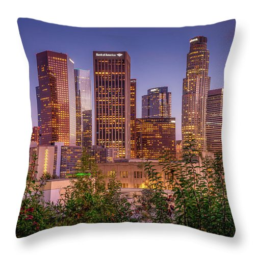 LA Skyline - Throw Pillow
