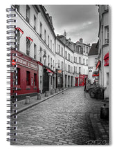 Load image into Gallery viewer, Montmartre Street - Spiral Notebook