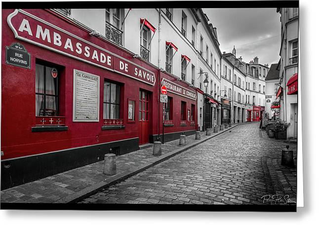 Montmartre Street - Greeting Card