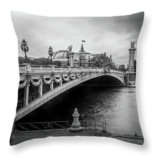 Pont Alexandre III - Throw Pillow