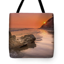 Load image into Gallery viewer, Sunset on the Rock - Tote Bag