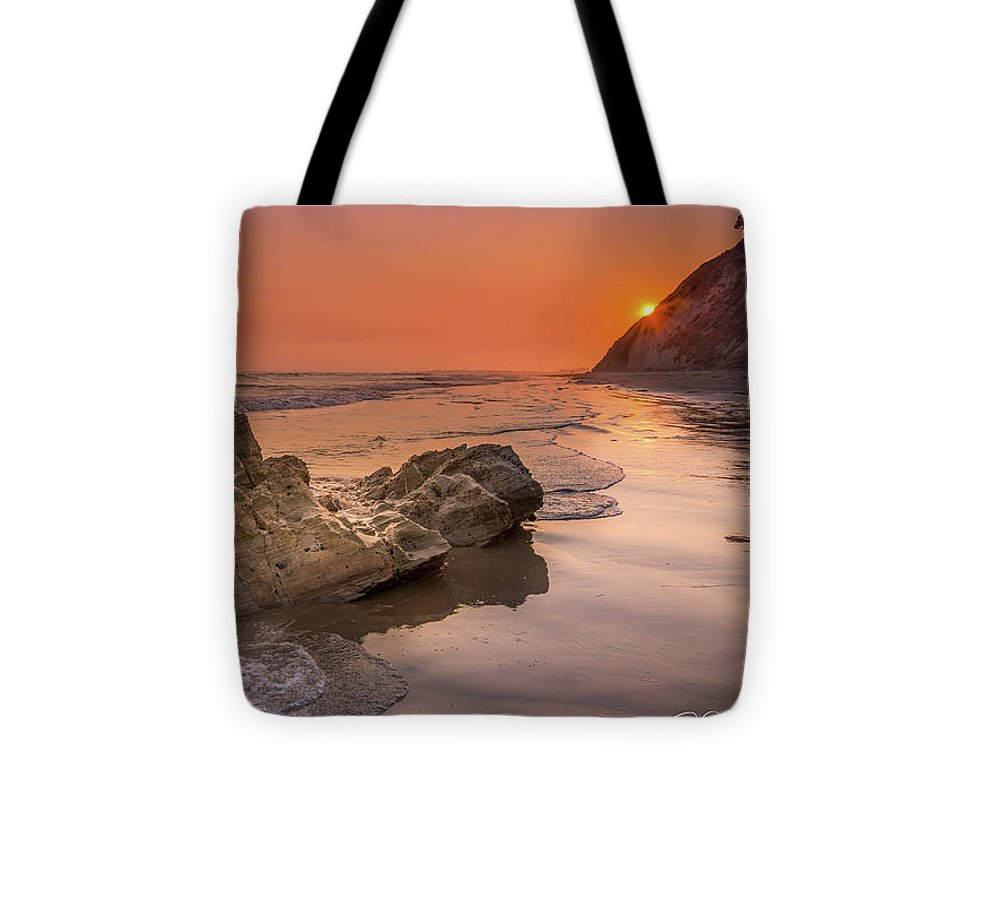 Sunset on the Rock - Tote Bag
