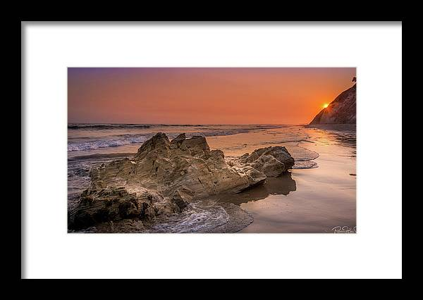 Sunset on the Rock - Framed Print