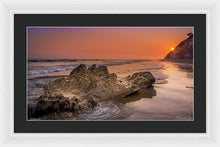 Load image into Gallery viewer, Sunset on the Rock - Framed Print