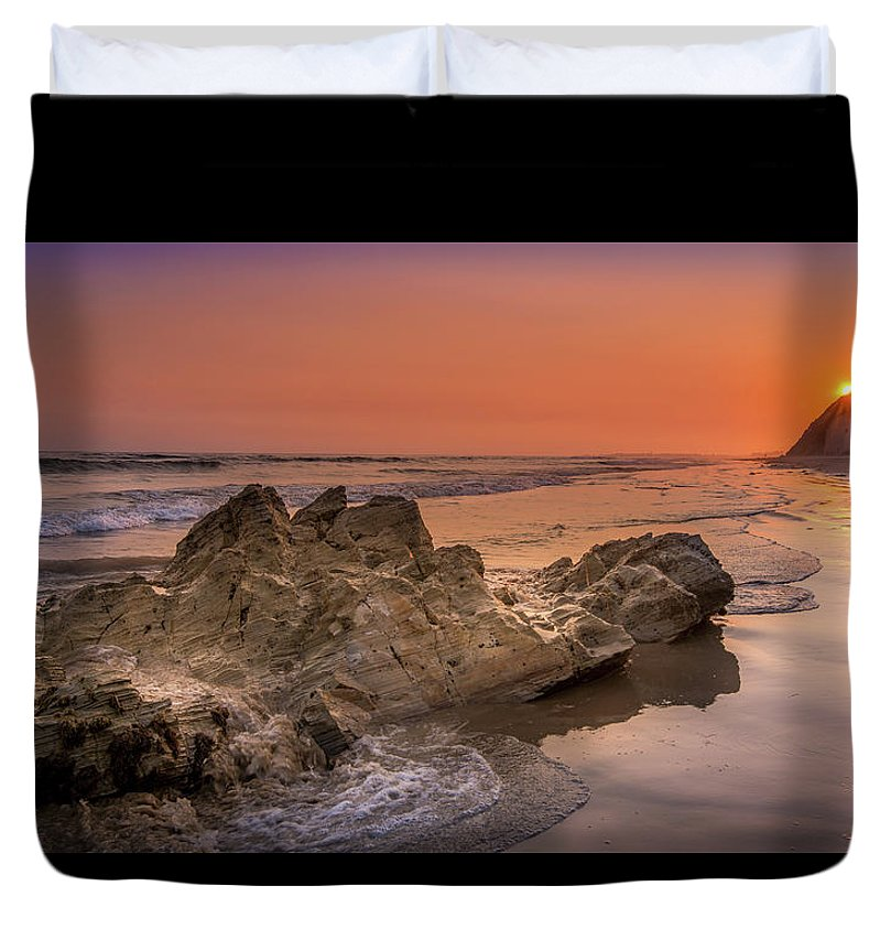Sunset on the Rock - Duvet Cover