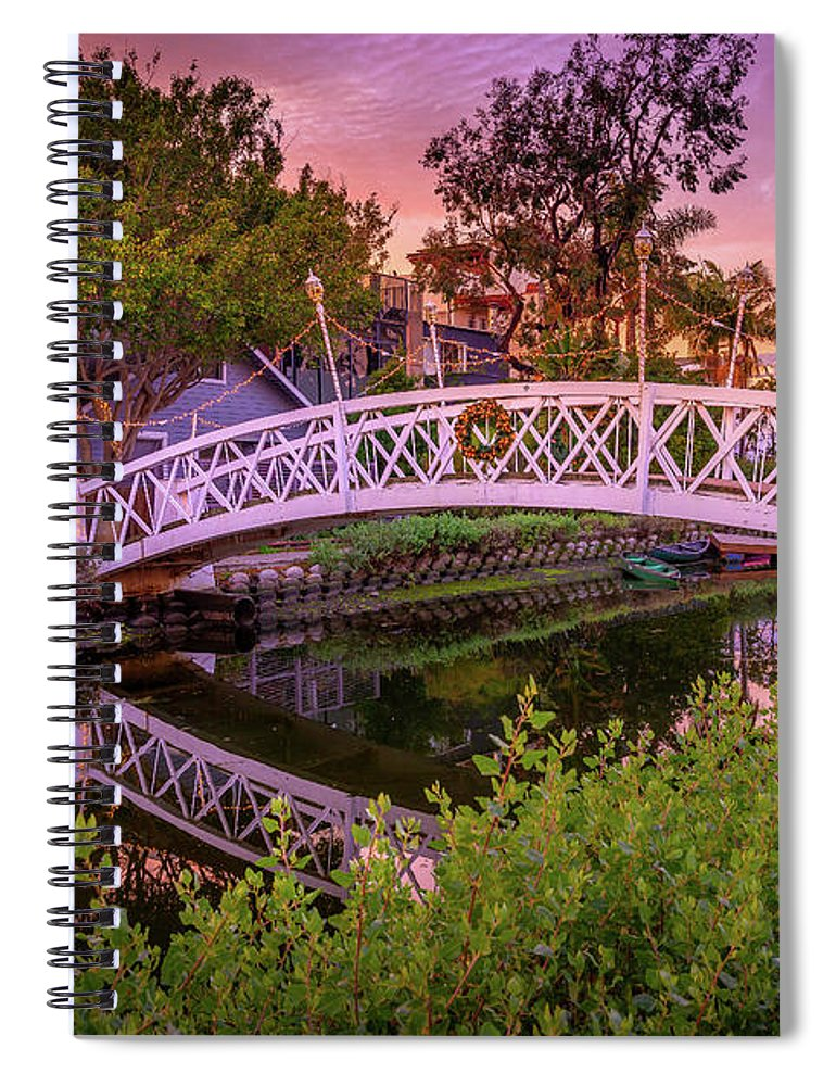 Venice Bridge - Spiral Notebook
