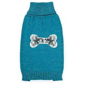Zack and Zoey Sequin Sweater Blue