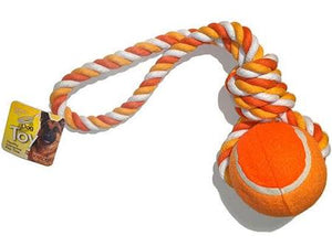 Tennis Ball and Rope Tug