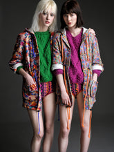 Load image into Gallery viewer, Liberty Fleece Parka in Abstract Floral Print - Coat - Megan Crook