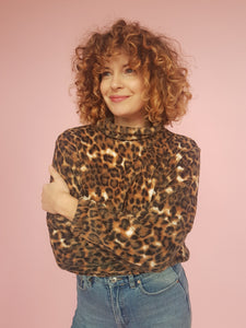 Brown Leopard Print Jumper