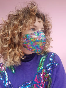 Sequin Face Covering