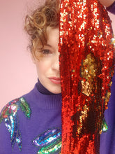 Load image into Gallery viewer, Sequin Head Wrap in Red Gold