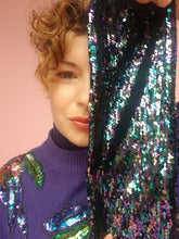 Load image into Gallery viewer, Sequin Head Wrap in Dark Multi