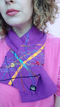 Load image into Gallery viewer, Embellished Lambswool Neck Wrap in Royal Purple