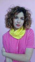 Load image into Gallery viewer, Cotton Knit Cowl in Lemon Yellow