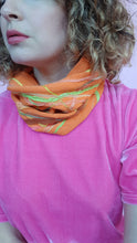 Load image into Gallery viewer, Embellished Cotton Knit Cowl in Orange