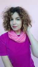 Load image into Gallery viewer, Velvet Cowl in Bubblegum Pink