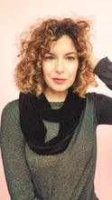 Load image into Gallery viewer, Double Wrap Velvet Cowl in Black