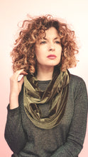 Load image into Gallery viewer, Double Wrap Velvet Cowl in Khaki
