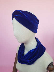 Velvet Cowl in Royal Blue