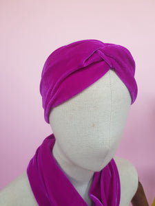 Velvet Headband in Orchid
