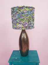 Load image into Gallery viewer, Small Embellished Lampshade in Green & Lilac