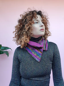 Woven Neck Wrap in Berry